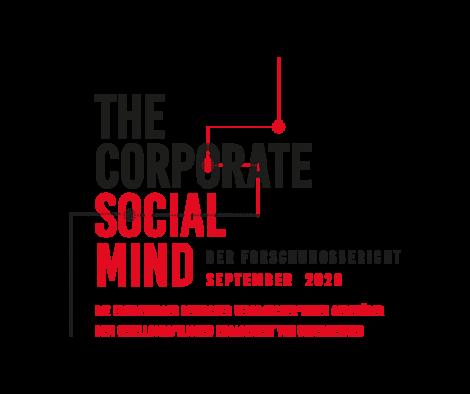 Titelbild The Corporate Social Mind, Der Forschungsbericht, September 2020, Die Erwartungen deutscher Verbraucher*innen gegenüber dem gesellschaftlichen Engagement von Unternehmen