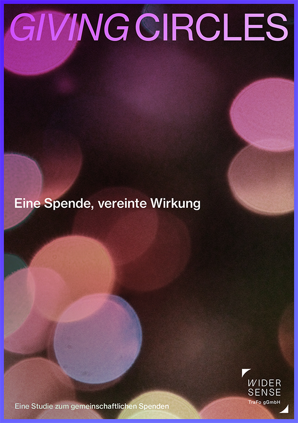 """Titelblatt zur Studie """"Giving Circles – eine Spende, vereinte Wirkung"""""""