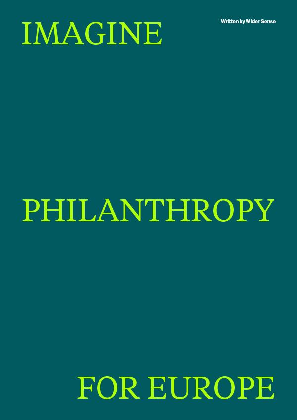 """Titelblatt der Studie """"Imagine Philanthropy for Europe"""""""