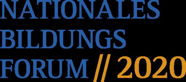 Logo des Nationalen Bildungsforums 2020
