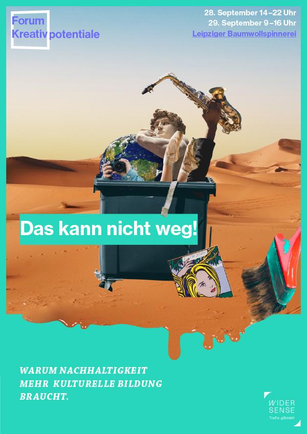 Forum Kreativpotentiale 2021: Das kann nicht weg. Titelseite Programmheft.
